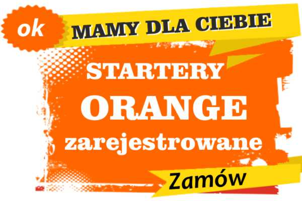 Sprzedam zarejestrowane karty sim orange Działdowo  zadzwoń 887 332 665